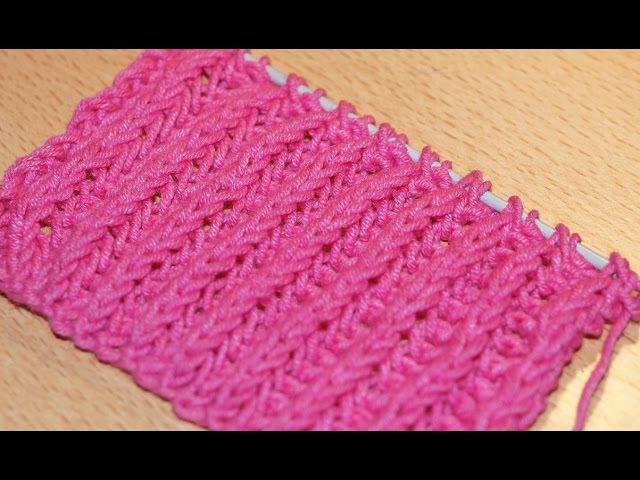 Вязание спицами для начинающих. Схема вязания английской резинки