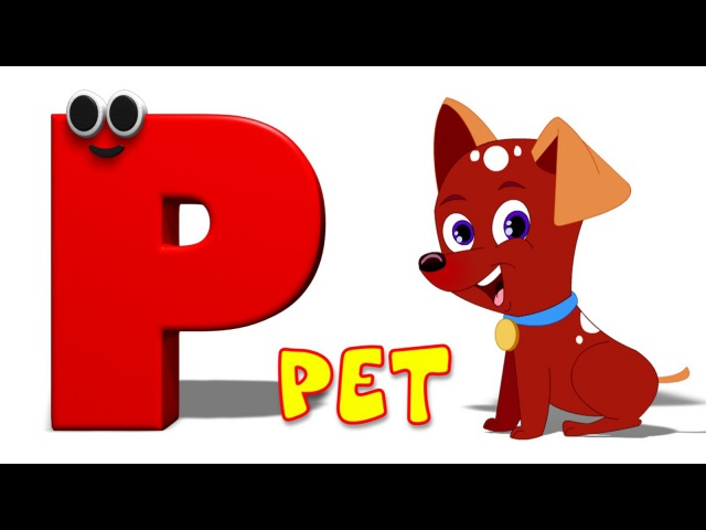 Phonics Letter P song Five Little Penguins Kids Tv Nursery Rhymes For Children Cartoon Songs