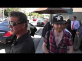 Sylvester Stallone signs a fans on Bedford in Beverly Hills