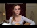Девушка класно спела под гитару кавер