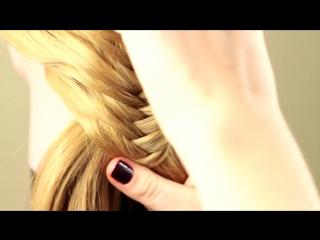 Косичка рыбий хвост. Hair Braid Fish Tail