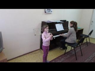 Игра на блок-флейте.Старинная французская песенка.