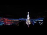 Дед Мороз из Великого Устюга зажигает огни на главной новогодней ёлке Санкт-Петербурга