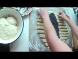 Плетенка из теста. Braid the dough.