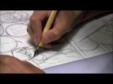 Takeshi Obata Drawing a Manga Page from Bakuman  REAL SPEED