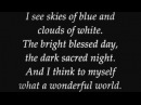 Louis Armstrong What A Wonderful World Lyrics
