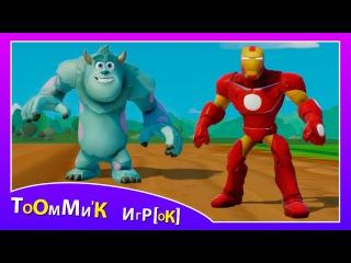 Супергерои мультик - Железный Человек и Салли играют с МАШИНКАМИ ТАЧКИ ДИСНЕЙ. Игра для детей