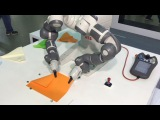 Dual-Arm Collaborative YuMi Robot makes paper aeroplanes - ABB Robotics
