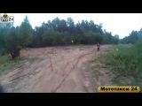Экстремальное катание в лесу на мотоцикле с мототакси 24