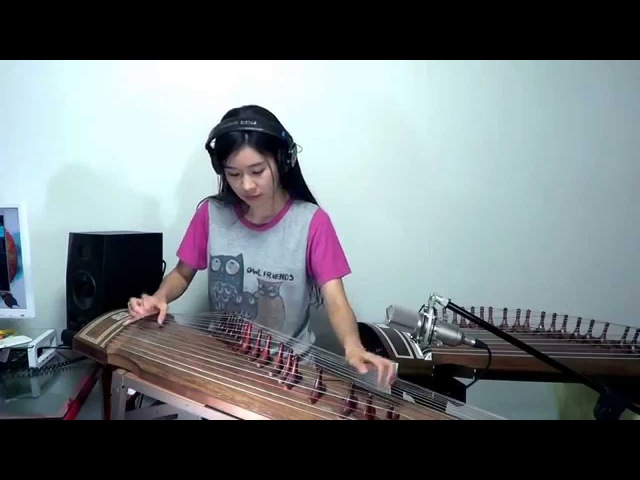 Led Zeppelin-Stairway to heaven Guitar solo Gayageum cover. by Luna Lee
