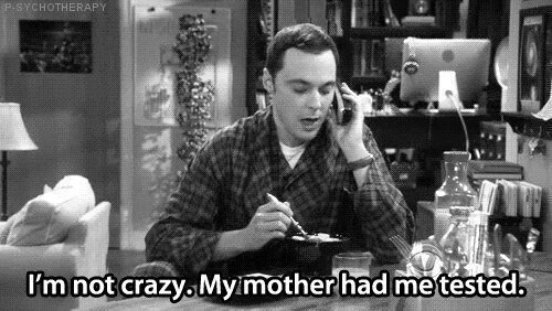 — Я не сумасшедший. Моя мама меня проверяла.