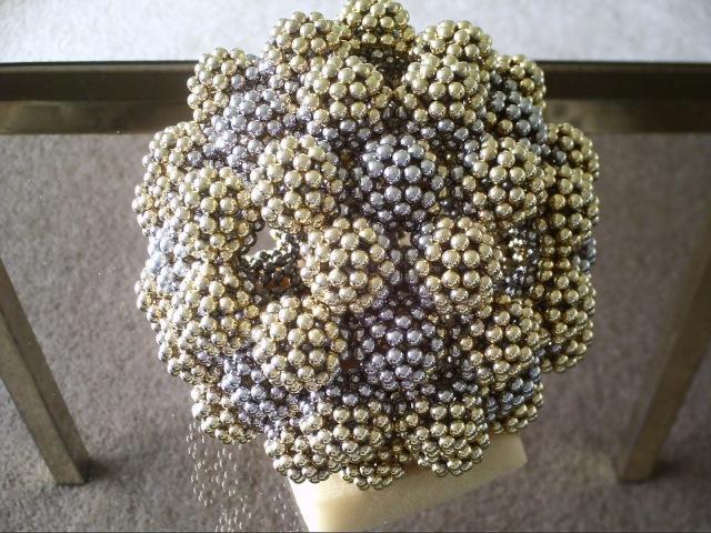 Sphere of Spheres - B80 Fullerene Molecule (Ball Magnets)