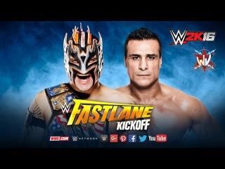 WWE 2K16. Kalisto vs Alberto Del Rio (WWE Fastlane 2016)