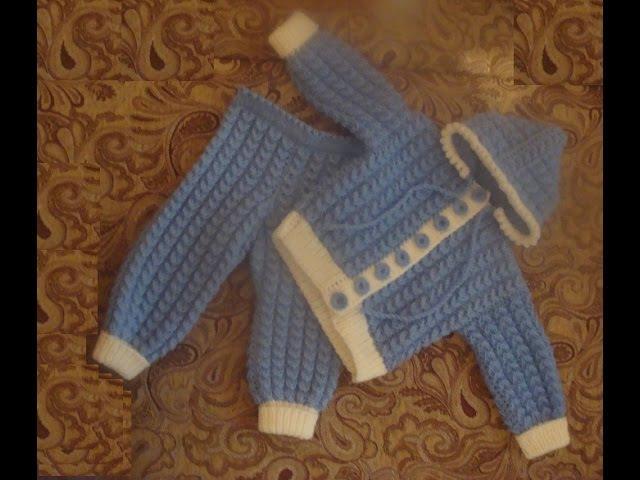 Костюмчик для малыша спицами. Часть 2. suit for baby knitting