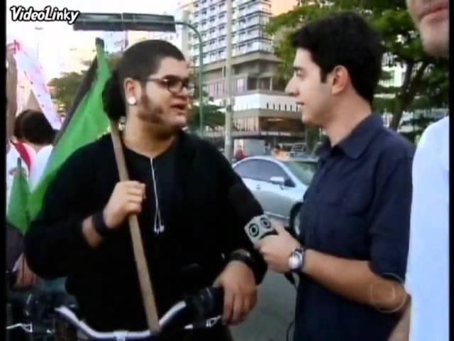 Trollagem na Globo: Eu não falo com mídia corporativista Burguesa - Profissão Repórter