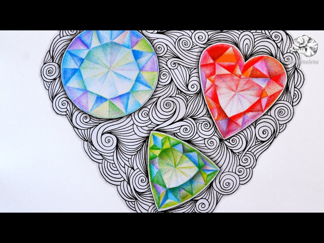 How to Draw Gems Zentangle Inspired Jewels and Faceted Gemstones