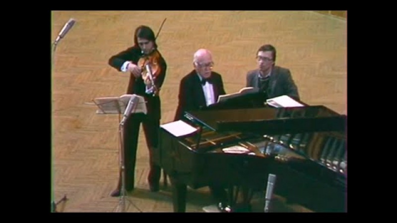 Yuri Bashmet Sviatoslav Richter play Hindemith Viola Sonata, op. 11 no. 4 - video 1985