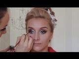 Мини видео-урок по яркому свадебному макияжу и  высокой прическе с собранными волосами.