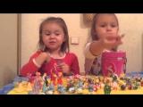 Обзор игрушек от Kinder Surprise /коллекции игрушек//Вика-Викуся и Вероника-Веронюся.