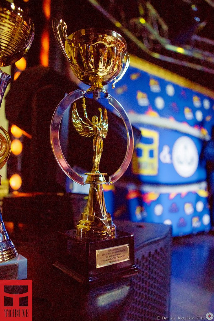 Olympus Cup 2016 trophy