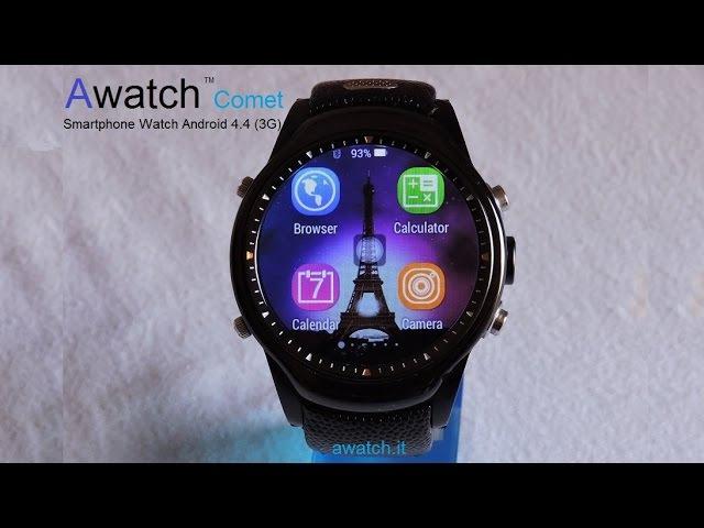 Awatch Comet best standalone Smartwatch round display camera of 2016