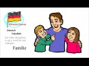 German Vocabulary Course 15 Familie Deutsch Vokabeln