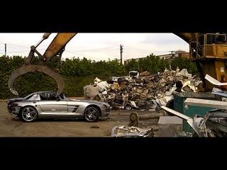 Mercedes Benz SLS на автосвалке