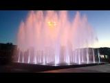 Волгодонск. ДК Курчатова. цветной музыкальный фонтан. Slow Motion съемка