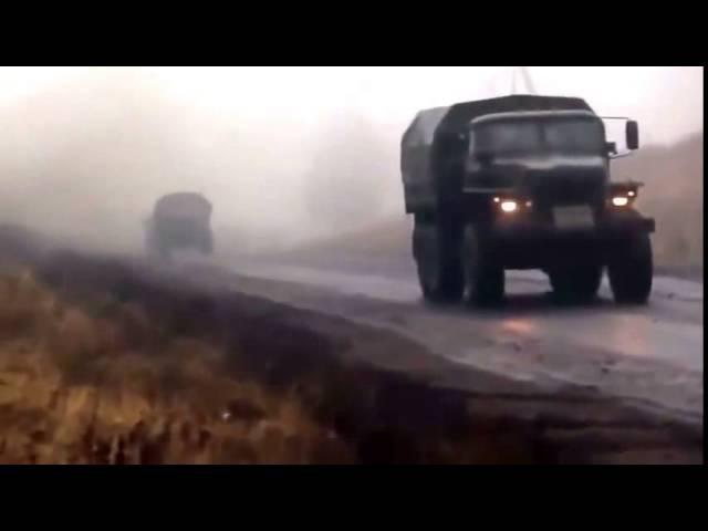 Виктор Цой!Атаман!Колонна техники ДНР На Мариуполь!(видео 2015)
