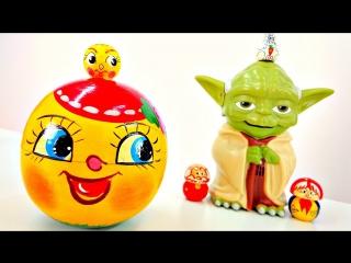 Сказка на новый лад. Магистр Йода и Колобок. Видео с игрушками Звёздные войны.