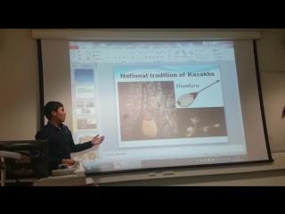 Лондон каласынын Брунел университетинде агылшын тилинде берген ен алгаш презентациям