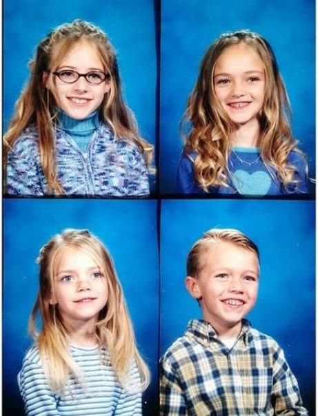 Вот это семья. 4 ребенка 16,18,19,21 И все модели!