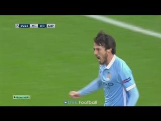 Манчестер Сити 1-0 Боруссия М | 16' Давид Сильва (Рахим Стерлинг)