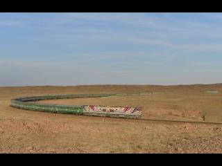 Diesel locomotive 2ZAGAL (7FDL, 2TE10) Dorno-Gobi province, Mongolia