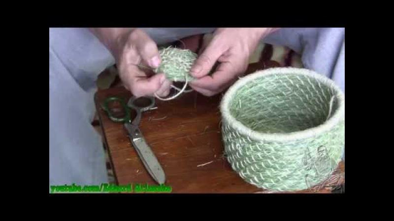 Плетение из травы часть 3