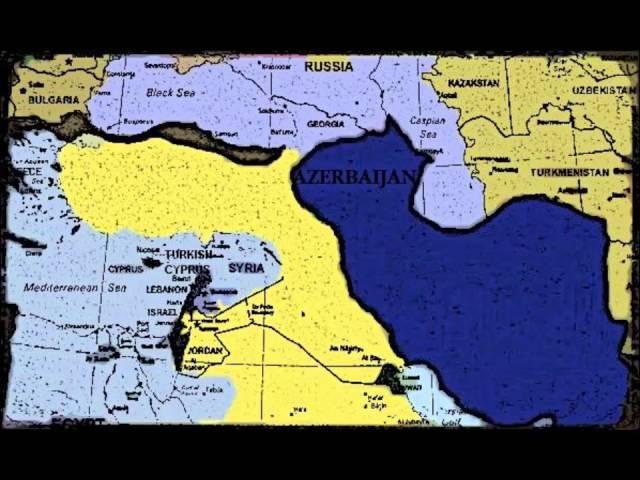 Карте Великая Азербайджан Древней Азербайджан - Boyuk Azerbaijan Xeritesi Butov Azerbaycan