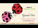 Mariquitas tejidas a crochet amigurumi ladybugs Parte 1 tejiendo el cuerpo
