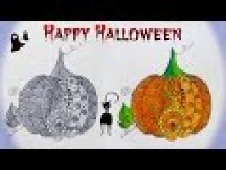 DIY: Скетчбук Halloween ТЫКВА Дудлинг ● Рисую в SketchBOOK Doodling ● СОВМЕСТНО с Xydojnica27