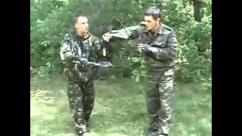 Рукопашный бой малой пехотной лопатой МПЛ 50