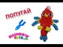 ПОПУГАЙ из резинок рогатке Фигурка из резинок Parrot Rainbow Loom