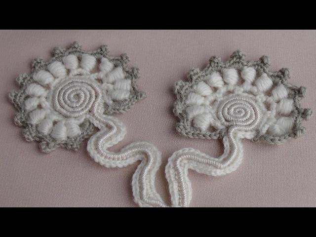 Мотив для ирландского кружева вязаный на основе завитка улитки Motive for Irish lace
