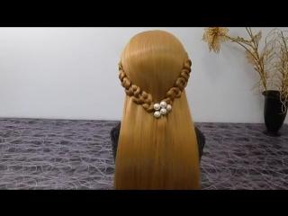 Быстрые и простые причёски на каждый день.Причёска с плетением косички.Причёски своими руками