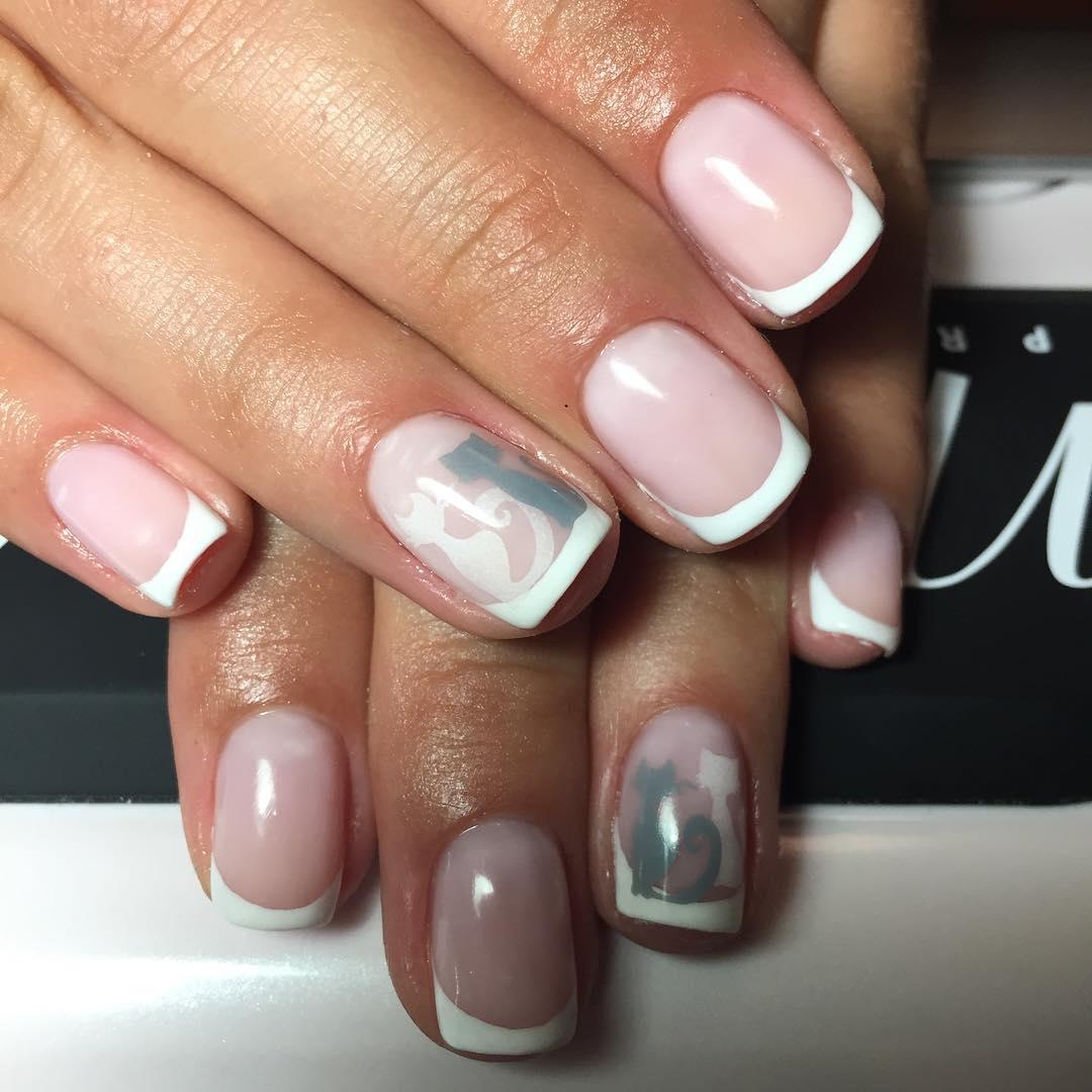 Маникюр На Короткие Овальные Ногти Фото Дизайн