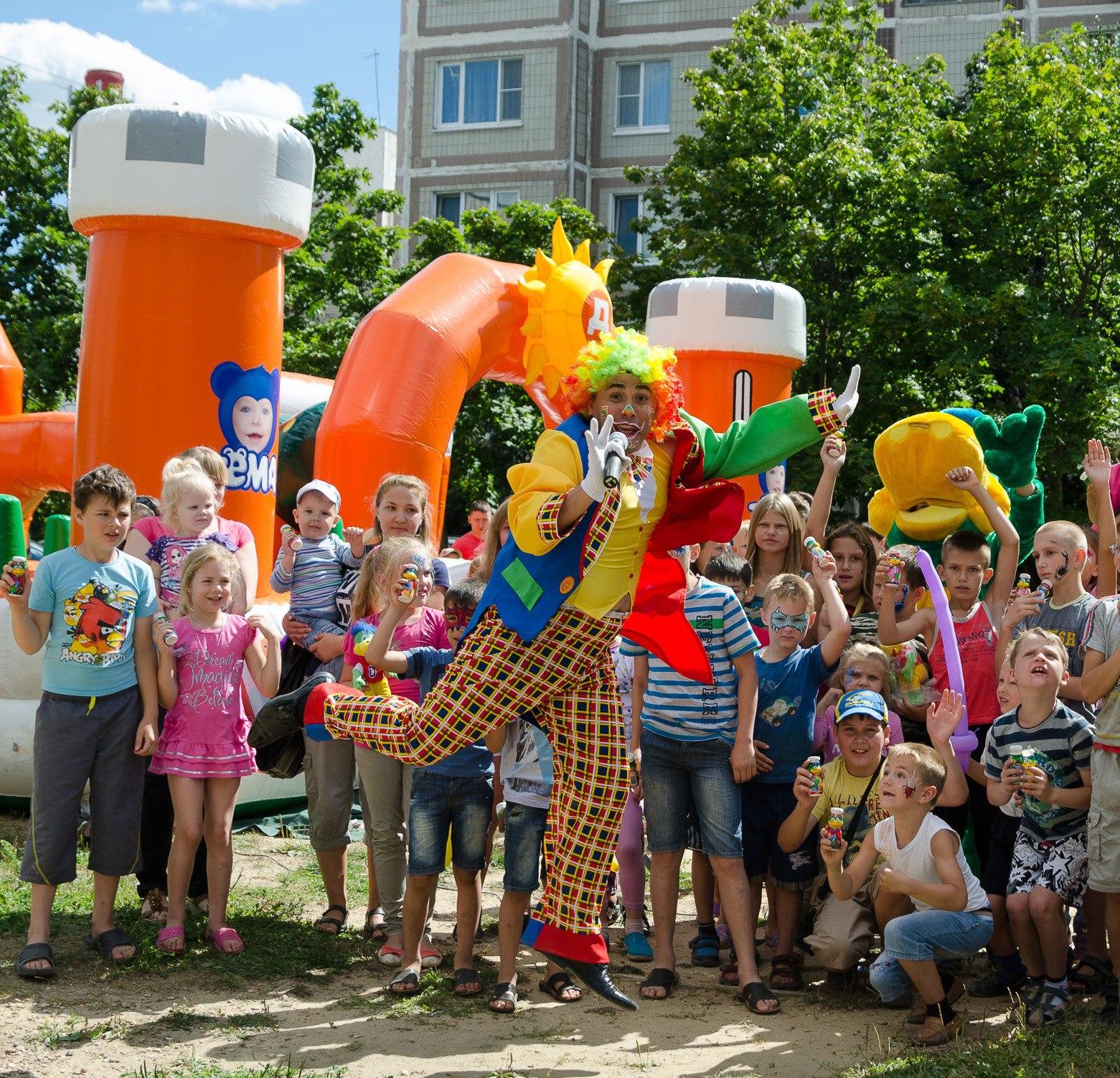 Открытие детской площадки Дикси