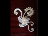Безотрывное вязание крючком Миникомпозиции- 2 / Irish lace Уроки вязания крючком ирла...