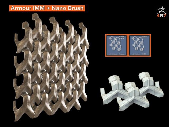 Zbrush 4r7 - Armour IMM Nano Brush