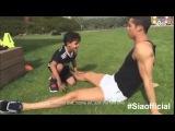 Криштиану Роналдо тренируется вместе с сыном.