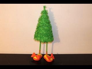 ЕЛКА-ТОПОТУШКА из ФОАМИРАНА своими руками/ Christmas Tree Diy