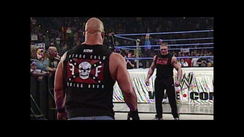 Stone Cold Steve Austin confronts Brock Lesnar days before WrestleMania: SmackDown, March 11, 2004