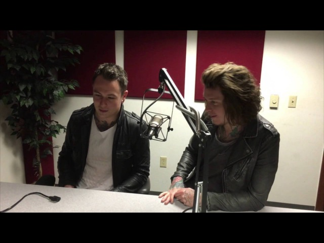 Janna Talks with Ben and James from Asking Alexandria at WGRD in Grand Rapids, MI
